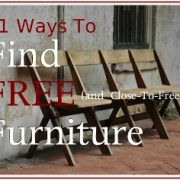 FREE Book:   11 Ways To Find Free (And Close-To-Free) Furniture