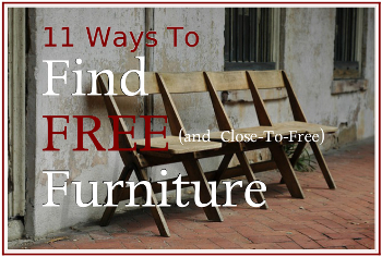 11 Ways to Find Free and close to free Furniture 2
