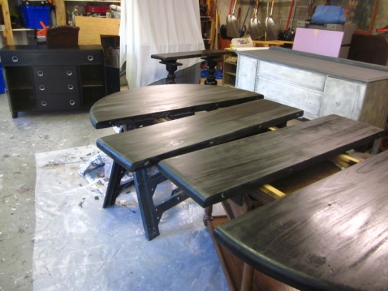 Black Extending Pedestal Dining Table Entri Ways - How To Stain A Table Black