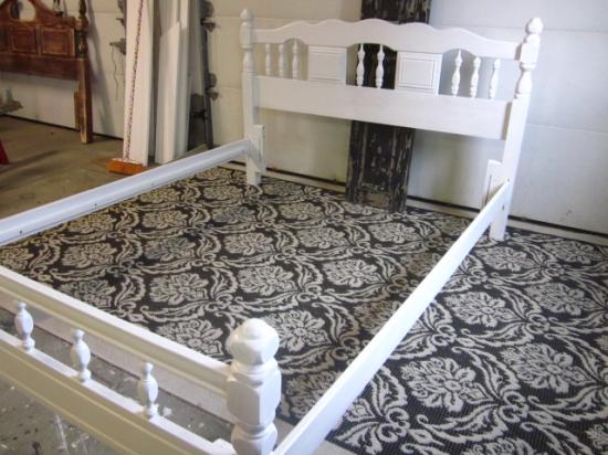 white queen full bed