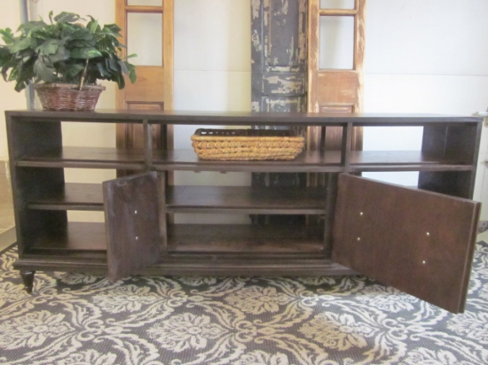 Media Console 2 sided expresso stain