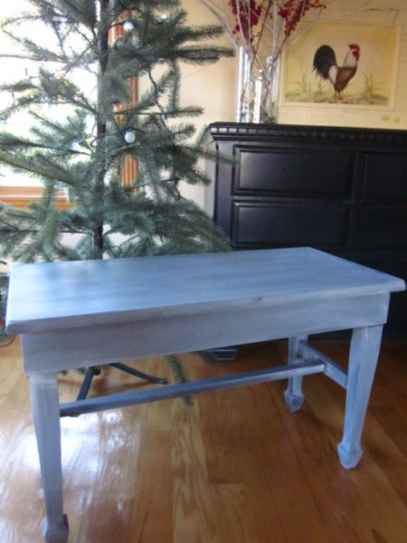 Blue Gray Piano Bench