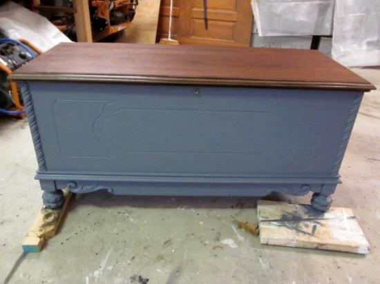 Gray Storage Bench
