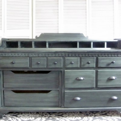 Colonial Sideboard  |  Black Glaze Over Green
