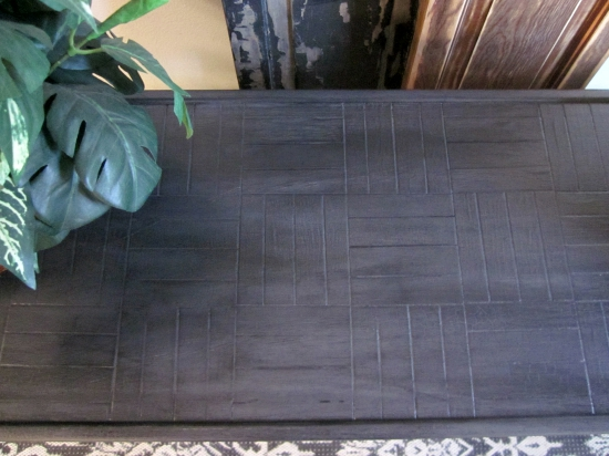 General Finishes pitch black glaze over gray