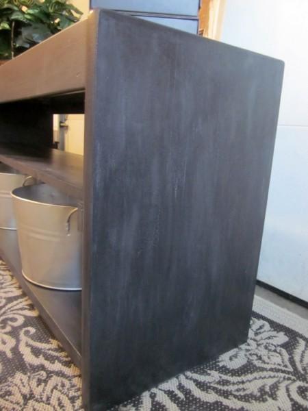 dark gray hallway table