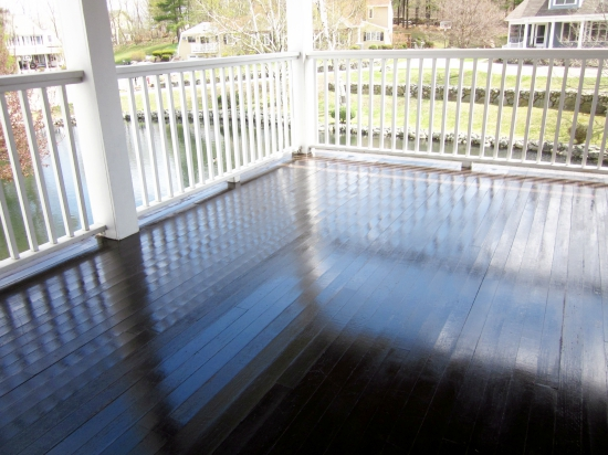 Staining an outdoor porch, Cabot Gold Moonlit Mahogany