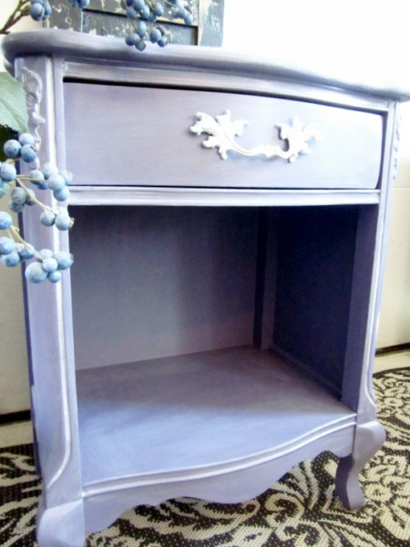 Lavender French Nightstand