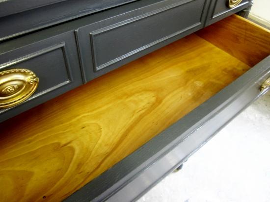 antique navy blue dresser, benjamin moore abyss