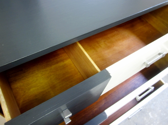 mcm navy white dresser