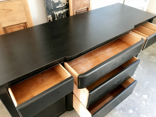 black antique sideboard buffet