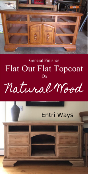 General Finishes Flat Out Flat Topcoat on Natural Wood