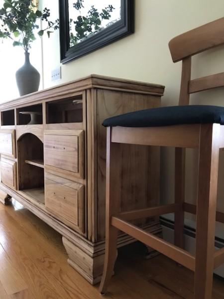natural wood sideboard