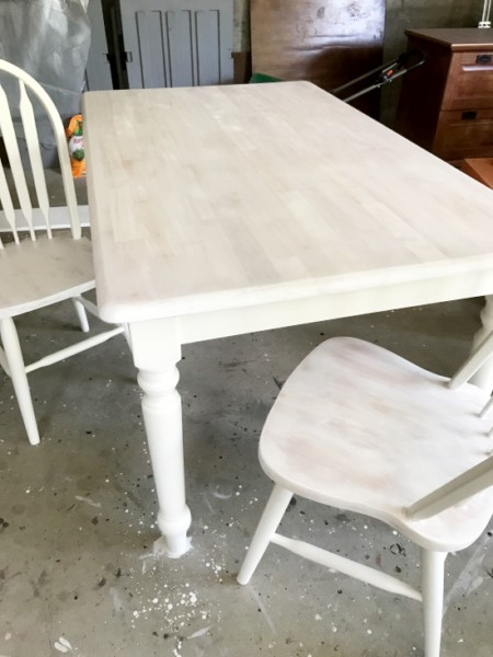 White Washed Maple Table Entri Ways, How To White Stain Furniture