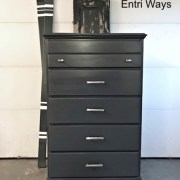 tall navy blue dresser