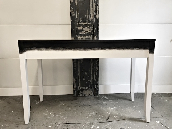 two-tone black & white painted desk