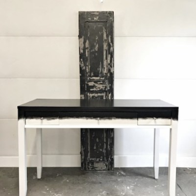 A Two-Tone Painted Desk That's Artwork in Your Office