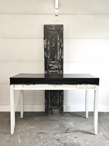 two-tone black & white desk