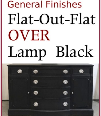 Lamp Black Sideboard with Silver Hepplewhite