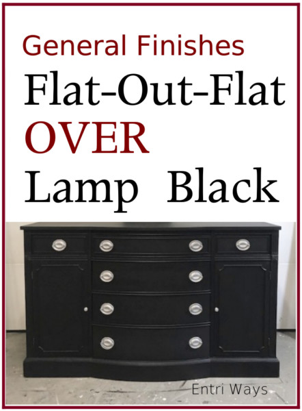 General Finishes Flat Out Flat Over Lamp Black Sideboard