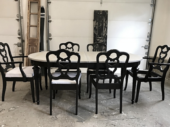 Luxury Oval Driftwood Gray Dining Table
