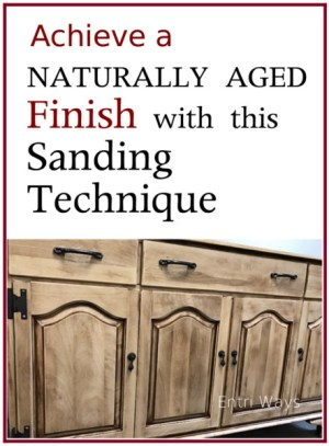 Achieve a Naturally Aged Finish With This Sanding Technique