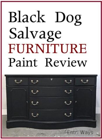 Black Dog Salvage Furniture Paint Review, black sideboard