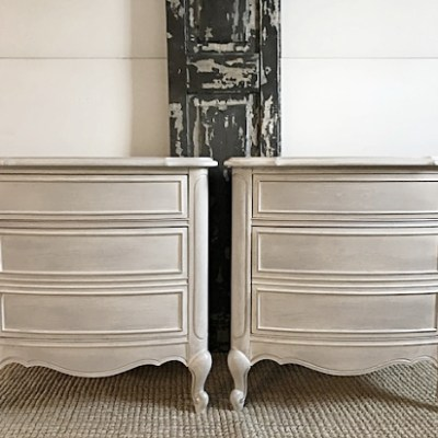 Romantic Nightstands:  Metalic & Dry Brush Painting