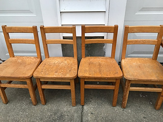 Kids stained chairs