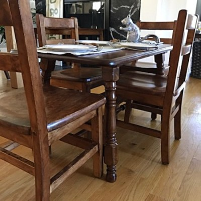 Kids' 50-Year Old Solid Wood Tables