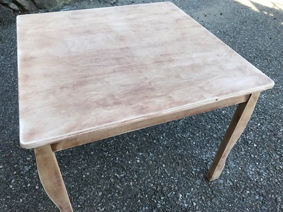 kids stained table