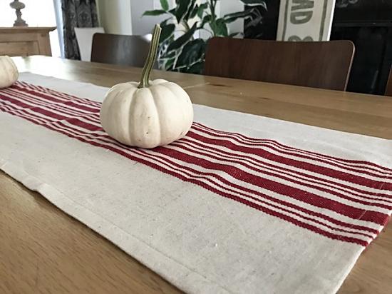 Red Grain Sack Style Table Runner