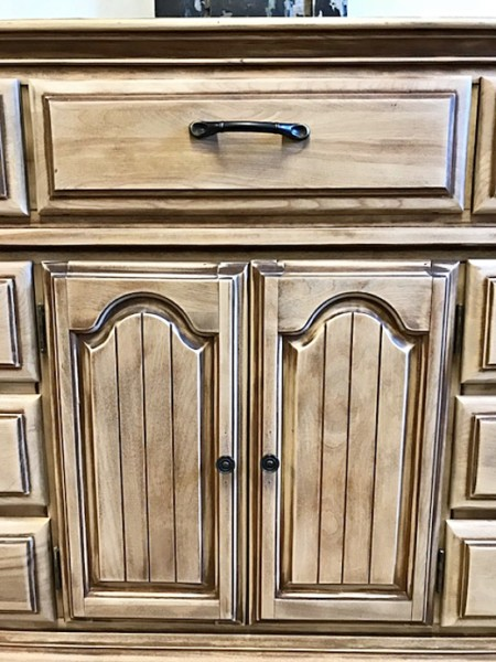 Long Naturally-Aged Sideboard Dresser