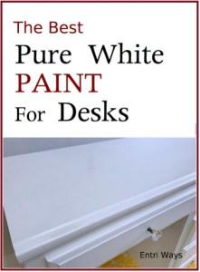 The Best Pure White Paint for Desks & Vanities