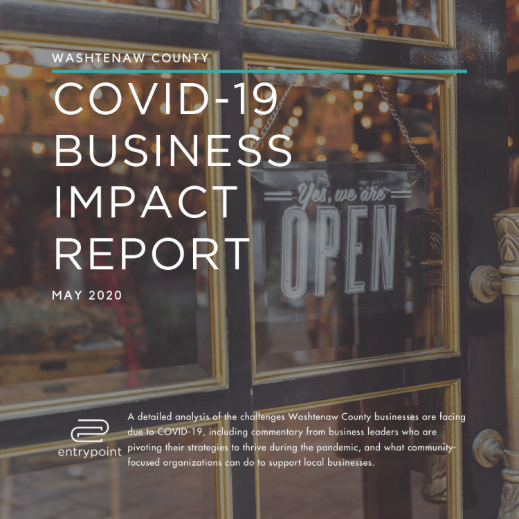 Washtenaw County COVID-19 Business Impact Report cover - square