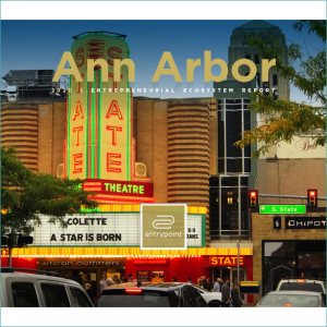 2020 Ann Arbor Entrepreneurial Ecosystem Report cover - square
