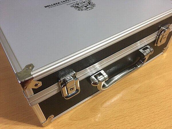 美麗紋刺青機套裝的行動鋁箱
