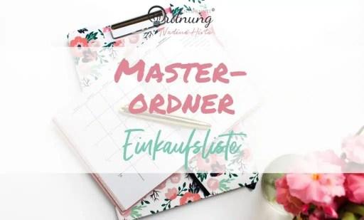 Master-Ordner Einkaufsliste