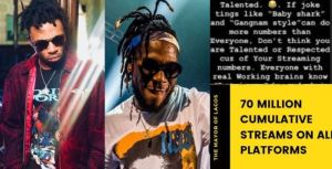 Mayorkun blasts Burna boy over a post about streaming numbers 4 Mayorkun blasts Burna boy over a post about streaming numbers