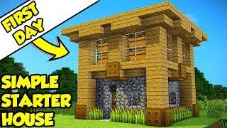 Minecraft: How To Build A Survival Starter House Tutorial #11