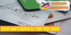 kredi karti borcu