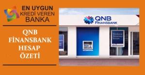 QNB Finansbank Hesap Ozeti
