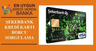 Sekerbank Kredi Kartı BorC Sorgulama