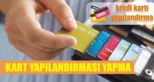 kredi karti yapilandirmasi nasil yapilir