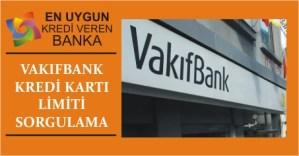 vakifbank kredi karti limit sorgulama