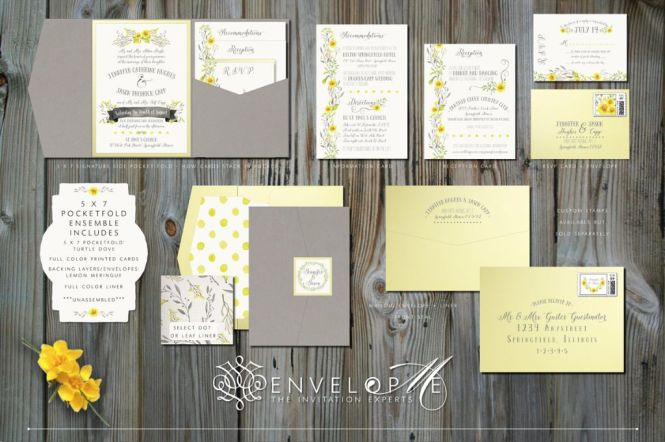 Gray And Yellow Wedding Invitations The Best