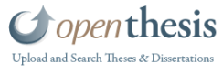 Open Thesis a free repository of theses, dissertations, and other academic documents, coupled with powerful search, organization, and collaboration tools.