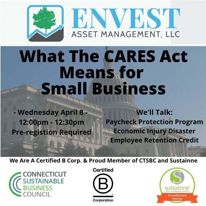 Webinar: Deciphering the CARES Act for Small Businesses: 04/08/2020 Noon – 12:30pm