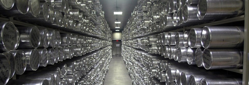 The Main Archive Freezer at the NSF Ice Core Facility