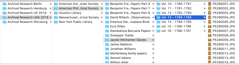 Screenshot of computer folders